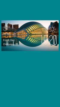 Valencia weather widget/clock poster