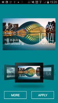 Valencia weather widget/clock screenshot 1