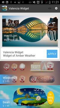 Valencia weather widget/clock apk screenshot