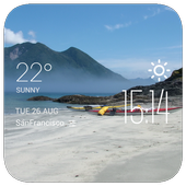 Varga weather widget/clock icon