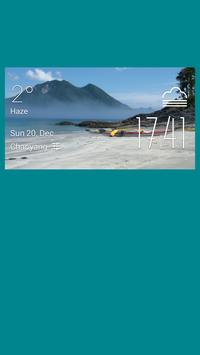 Varga weather widget/clock poster