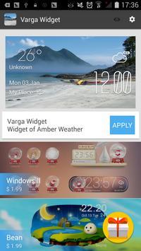 Varga weather widget/clock apk screenshot