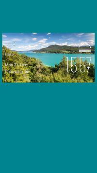 Villach weather widget/clock poster
