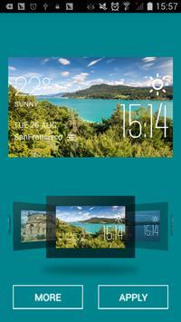 Villach weather widget/clock apk screenshot