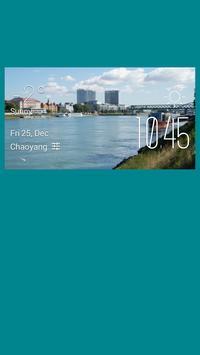 Wolfville weather widget/clock poster
