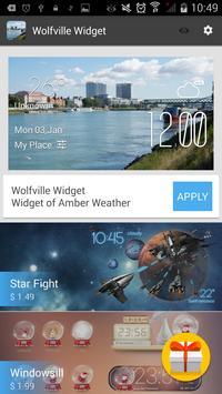 Wolfville weather widget/clock apk screenshot