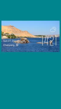 Zagazig weather widget/clock poster