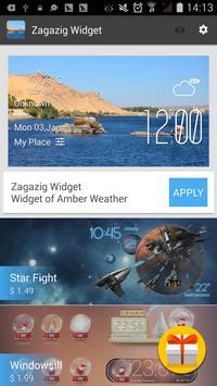 Zagazig weather widget/clock screenshot 2