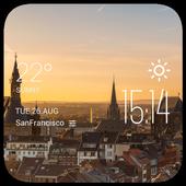 Aachen weather widget/clock icon