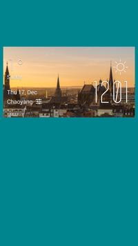 Aachen weather widget/clock poster