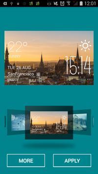 Aachen weather widget/clock screenshot 1