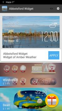 Abbotsford weather widget screenshot 2