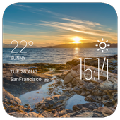 Alta weather widget/clock icon