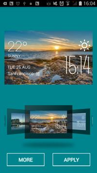 Alta weather widget/clock apk screenshot