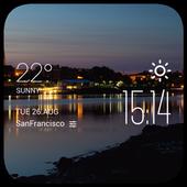 Bangor weather widget/clock icon