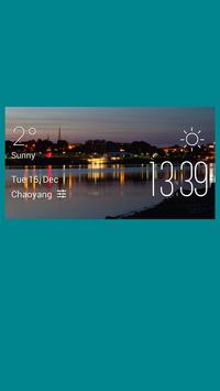 Bangor weather widget/clock poster
