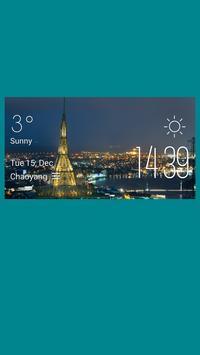 Belfast weather widget/clock poster