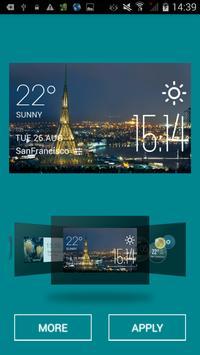 Belfast weather widget/clock screenshot 1