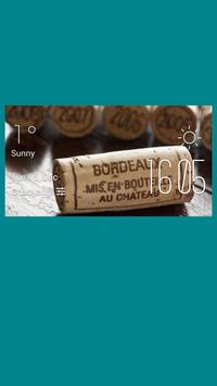 Bordeaux weather widget/clock poster