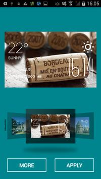 Bordeaux weather widget/clock screenshot 1