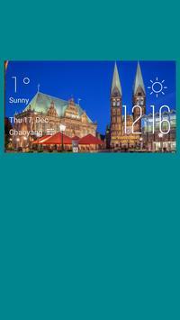 Bremen weather widget/clock poster