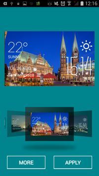 Bremen weather widget/clock apk screenshot