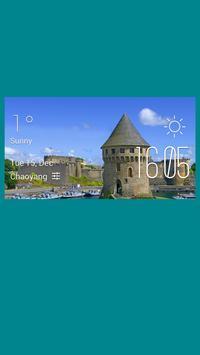 Brest weather widget/clock poster