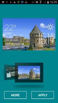 Brest weather widget/clock apk screenshot