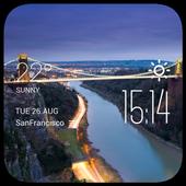 Bristol weather widget/clock icon