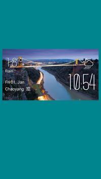 Bristol weather widget/clock screenshot 1