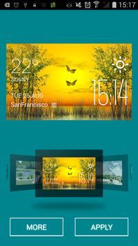 Butterfly weather widget/clock apk screenshot