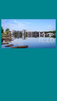 Dortmund weather widget/clock poster