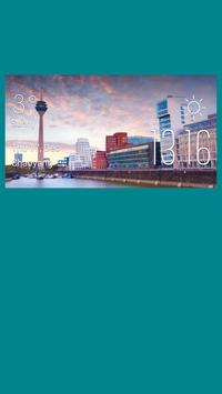 Dusseldorf weather widget poster