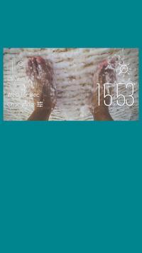 Foot weather widget/clock poster