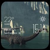 Giant nothosaur weather widget icon