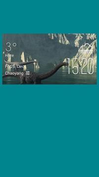 Giant nothosaur weather widget poster