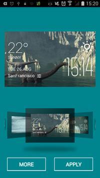 Giant nothosaur weather widget apk screenshot