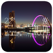 Glasgow weather widget/clock icon