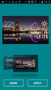 Glasgow weather widget/clock apk screenshot