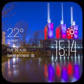 Hannover weather widget/clock icon