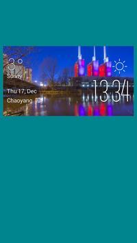 Hannover weather widget/clock poster