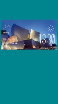 Halle weather widget/clock poster