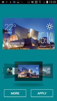 Halle weather widget/clock screenshot 1