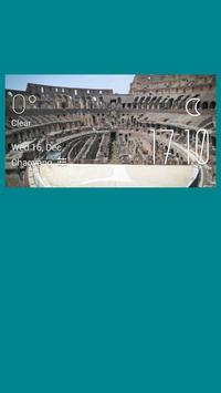 The arena weather widget/clock poster