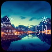 Le Havre weather widget/clock icon
