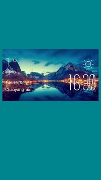 Le Havre weather widget/clock poster