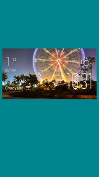 Lille weather widget/clock poster