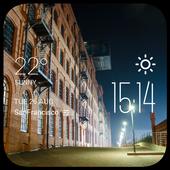 Lodz weather widget/clock icon