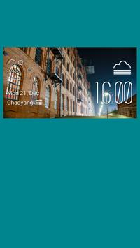 Lodz weather widget/clock poster