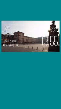Mannheim weather widget/clock poster